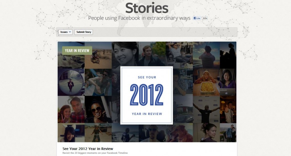 Facebook stories 2012