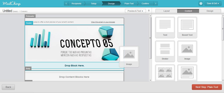 Mailchimp diseño