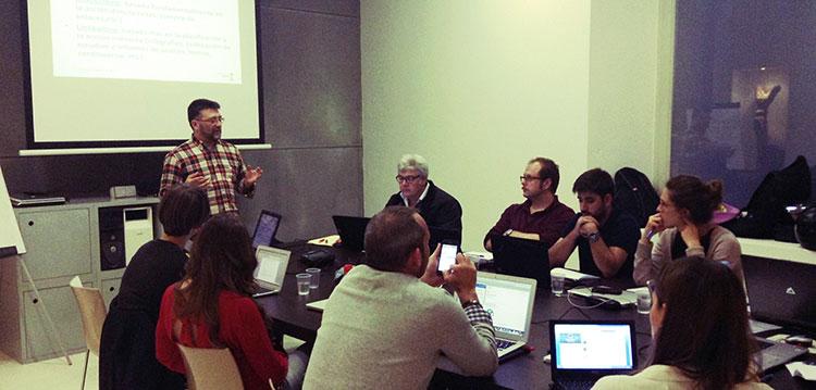 José Moreno impartiendo el curso de Google AdWords en Madrid