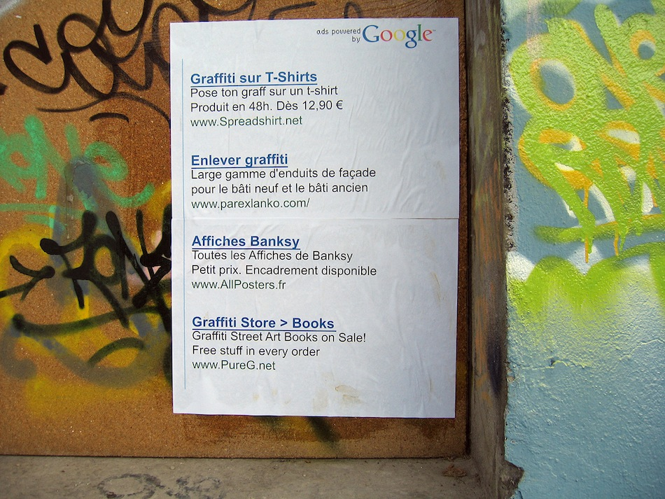 Graffiti de Google AdWords