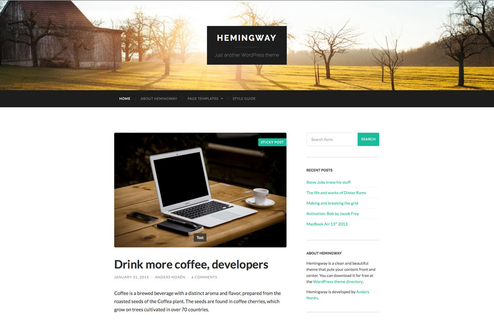 Wordpress theme free
