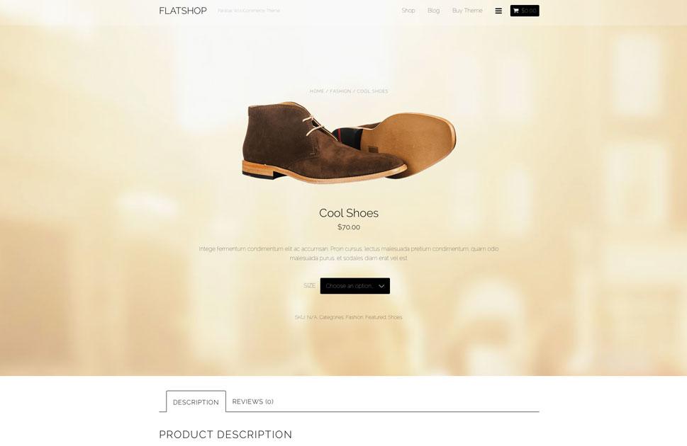 Flatshop Parallax WordPress Theme