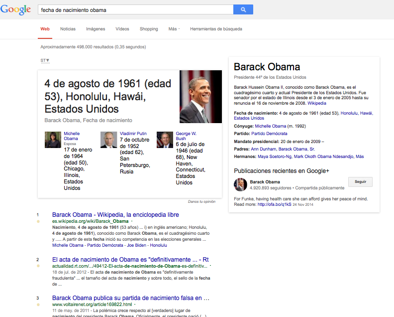 Fecha Nacimiento Obama Google KG