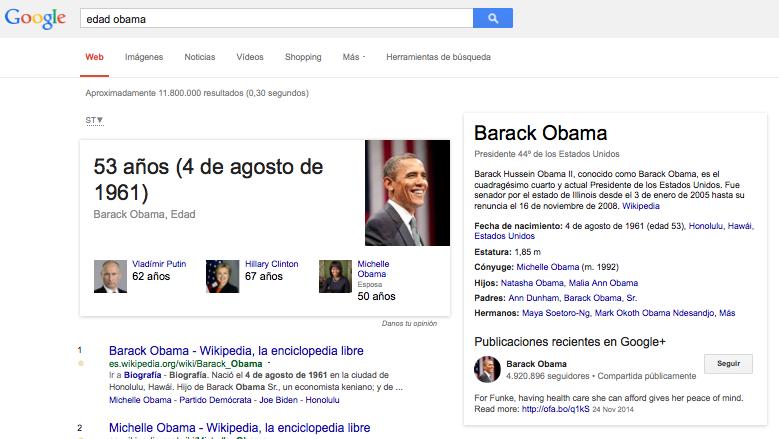Edad Obama Google