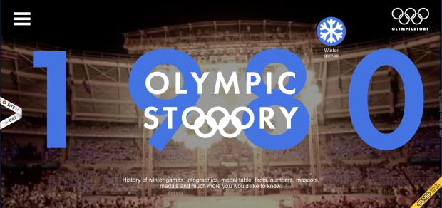 La historia olímpica en formato web