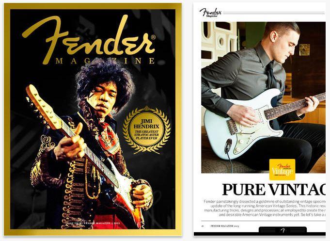 La empresa de fabricación Fender dedicó sus esfuerzos a diseñar cuidadosamente una publicación sobre la historia de las guitarras eléctricas y las historias alrededor de este instrumento comercializado por la compañía.