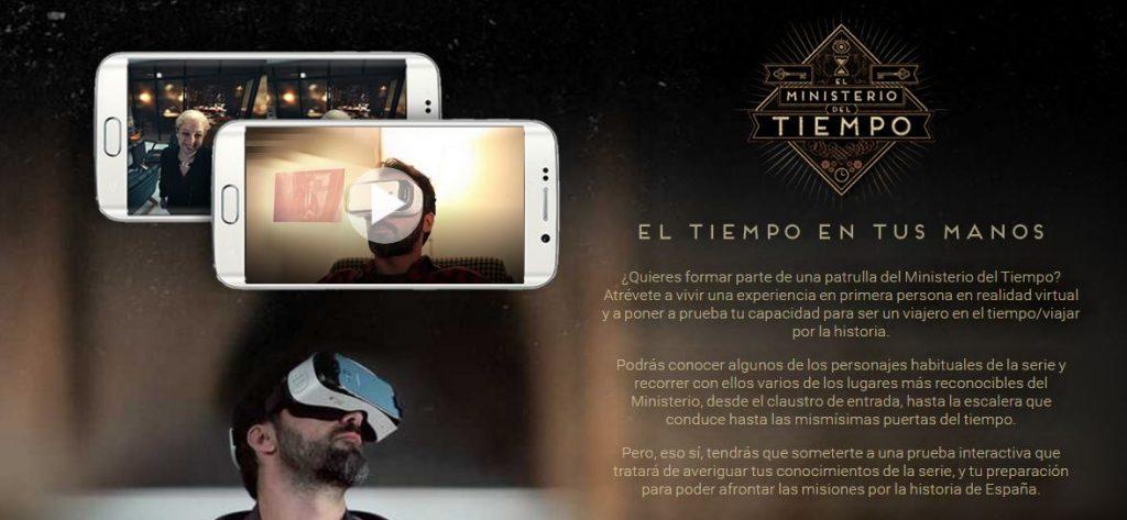 En España, series televisivas como El Ministerio del Tiempo ofrecen a sus espectadores un primer capítulo virtual mediante esta tecnología.