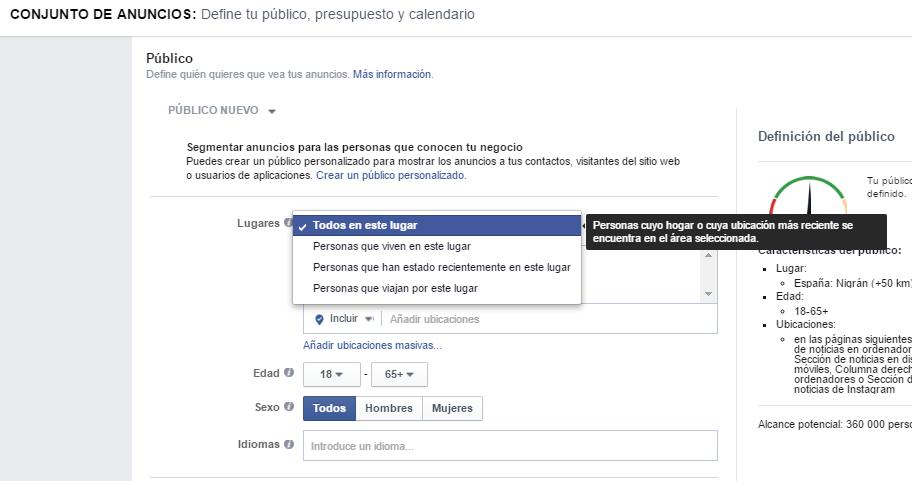 campañas-de-facebook-location-target
