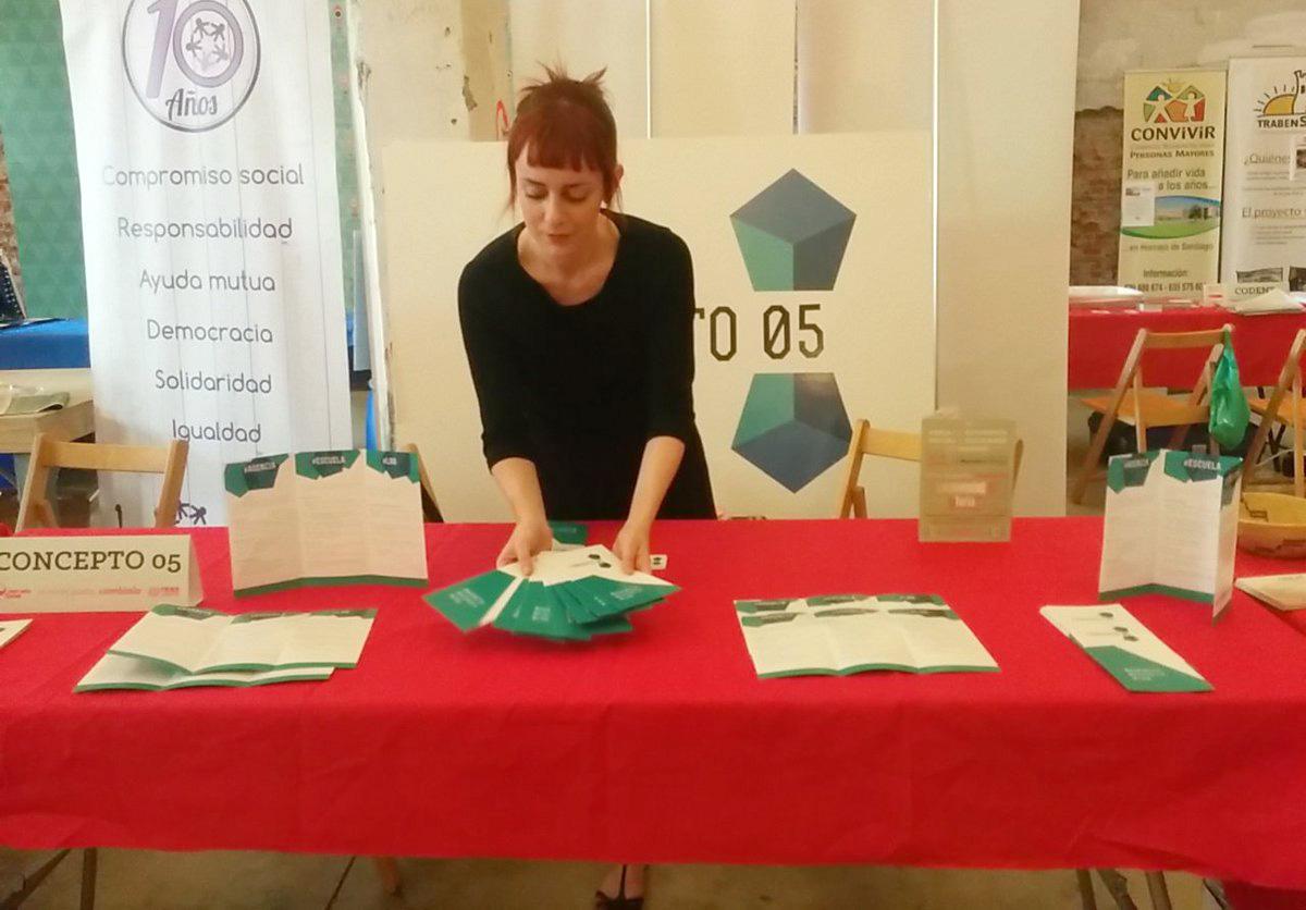 Ines en la Feria de la Economía Social de Madrid
