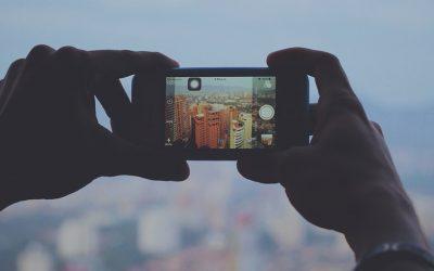 Smartphone en la ciudad