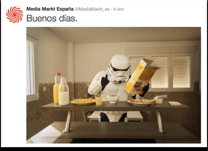 Eemplo de social brading de Media Markt España